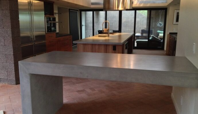 Concrete kitchen tables-Broward Custom Concrete Solutions-We offer custom concrete solutions including Polished concrete, Stained concrete, Epoxy Floor, Sealed concrete, Stamped concrete, Concrete overlay, Concrete countertops, Concrete summer kitchens, Driveway repairs, Concrete pool water falls, and more