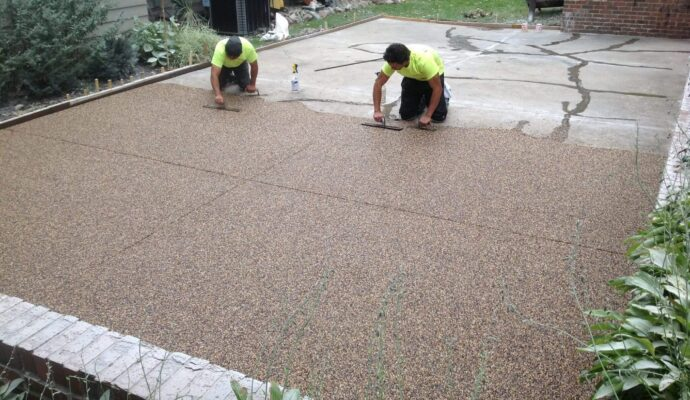 Patio resurfacing-Broward Custom Concrete Solutions-We offer custom concrete solutions including Polished concrete, Stained concrete, Epoxy Floor, Sealed concrete, Stamped concrete, Concrete overlay, Concrete countertops, Concrete summer kitchens, Driveway repairs, Concrete pool water falls, and more