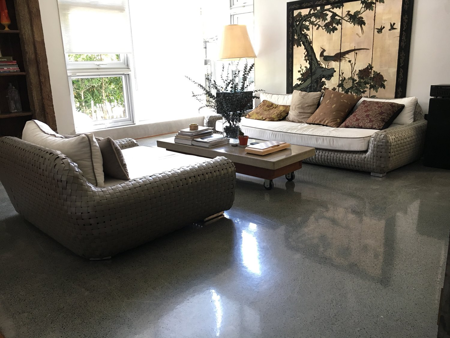 Polished concrete-Broward Custom Concrete Solutions-We offer custom concrete solutions including Polished concrete, Stained concrete, Epoxy Floor, Sealed concrete, Stamped concrete, Concrete overlay, Concrete countertops, Concrete summer kitchens, Driveway repairs, Concrete pool water falls, and more
